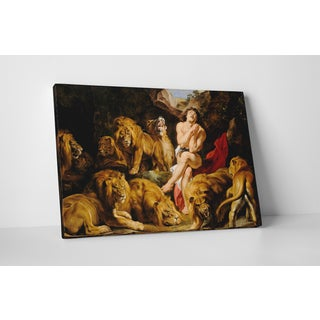 Classic Masters Rubens Paul Peter 'Daniel in the Lions Den' Gallery-wrapped Canvas Wall Art