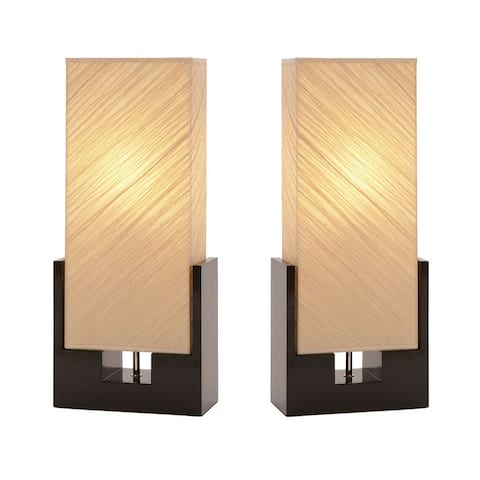 Sofia Black Wood Table Lamps (Set of 2) - 24-Inches