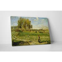 Classic Masters Pissarro Camille 'Giverny' Gallery Wrapped Canvas Wall Art
