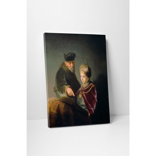 Classic Masters Rembrandt 'A Young Scholar and His Tutor' Gallery Wrapped Canvas Wall Art