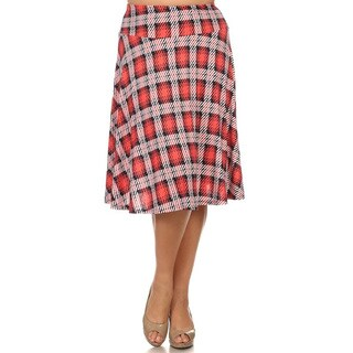 Plus Size Plaid Skirt (More options available)
