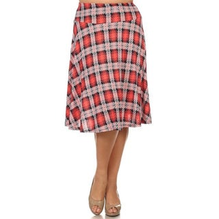 Plus Size Plaid Skirt