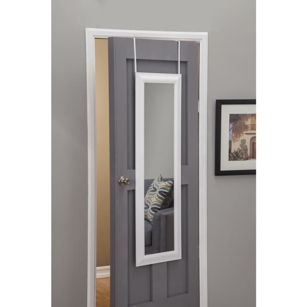 sandberg furniture white deluxe full length over the door mirror 19133769. Black Bedroom Furniture Sets. Home Design Ideas