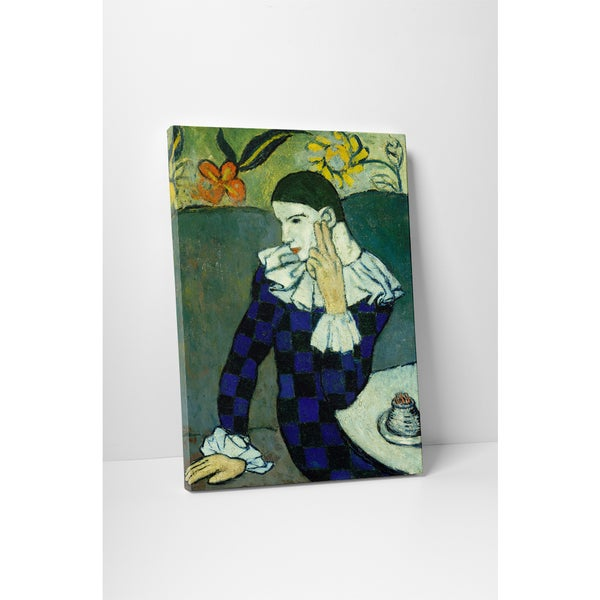 Classic Masters Pablo Picasso 'Harlequin Leaning' Gallery-wrapped Canvas Wall Art