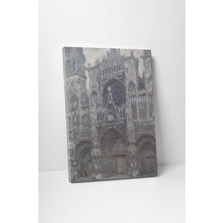 Classic Masters Claude Monet 'Rouen Cathedral, Grey Weather' Gallery-wrapped Canvas Wall Art