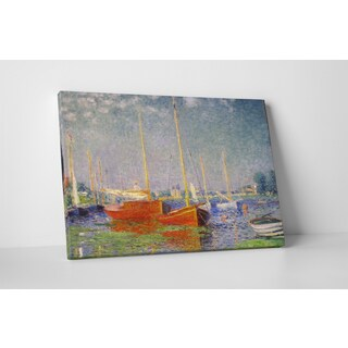 Classic Masters Claude Monet 'Red Boat At Argenteuil' Gallery-wrapped Canvas Wall Art