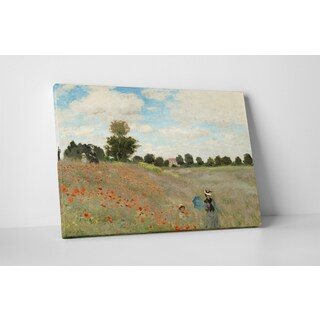 Classic Masters Claude Monet 'Poppy Field II' Gallery-wrapped Canvas Wall Art