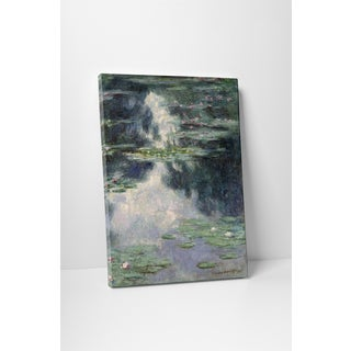 Classic Masters Claude Monet 'Pond with Waterlilies' Gallery-wrapped Canvas Wall Art