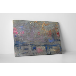Classic Masters Claude Monet 'Charing Cross Bridge' Gallery-wrapped Canvas Wall Art