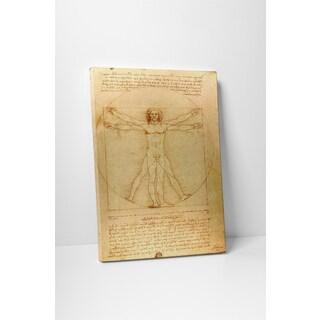 Classic Masters Leonardo Da Vinci 'Vitruvian Man' Gallery Wrapped Canvas Wall Art
