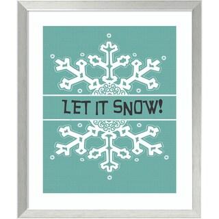 Framed Art Print 'Let It Snow' by Jo Moulton 22 x 26-inch