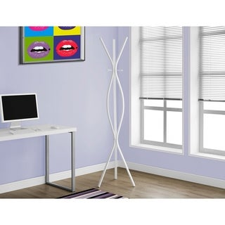 White Metal Contemporary Style Coat Rack