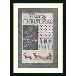 Framed Art Print 'Ho Ho Ho (Christmas)' by Jennifer Pugh 22 x 30-inch