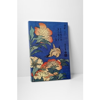 Classic Masters Katsushika Hokusai 'Flowers' Gallery-wrapped Canvas Wall Art