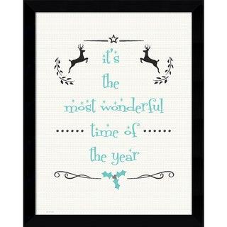 Framed Art Print 'Most Wonderful (Christmas)' by Jo Moulton 12 x 15-inch