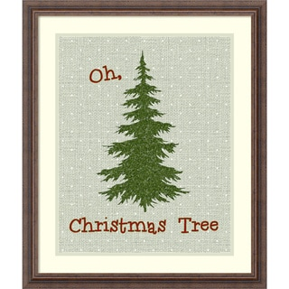 Framed Art Print 'Oh Christmas Tree' by Tara Moss 22 x 26-inch