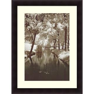 Framed Art Print 'Water Under the Bridge' by Ily Szilyagi 38 x 50-inch