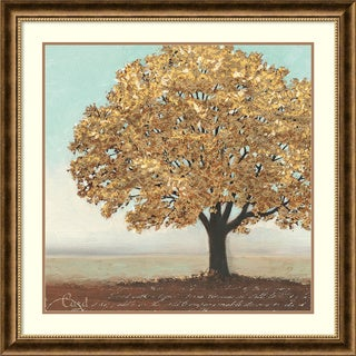Framed Art Print 'Gold Reflections I: Tree' by James Wiens 36 x 36-inch