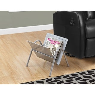 Silver Metal Magazine Rack