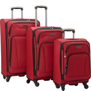 Heritage 'Wicker Park' 3-piece 20-inch, 24-inch, and 28-inch Expandable 4-wheel Spinner Luggage Set