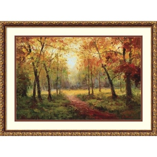 Framed Art Print 'A Beautiful Walk in the Fall' by Mary Jean Weber 30 x 22-inch