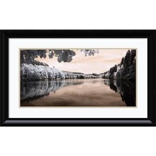 Framed Art Print 'The Lake' by Ilona Wellmann 32 x 20-inch