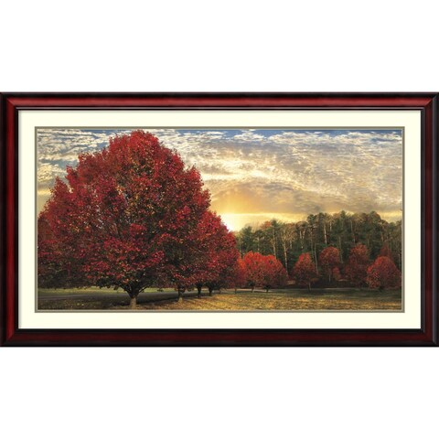 Framed Art Print 'Crimson Trees' by Celebrate Life Gallery 43 x 25-inch