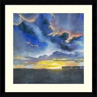 Framed Art Print 'Vivid Sunset I' by Grace Popp 16 x 16-inch