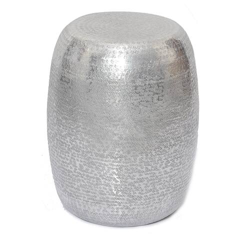 Marrakech Embossed Metal Round Side Table / Stool