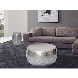 Marrakech Hammered Metal Round Coffee Table