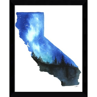 Framed Art Print 'California State Watercolor' by Jessica Durrant 12 x 15-inch