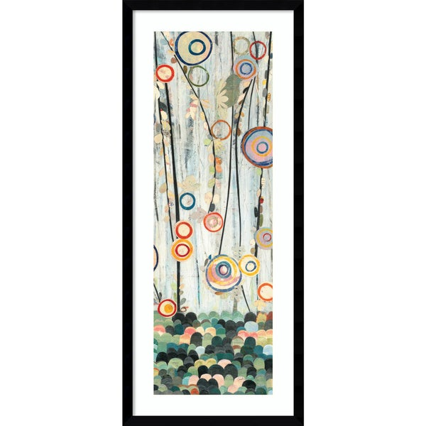 Framed Art Print 'Blooming Meadow II: Floral' 14 x 33-inch