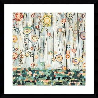Framed Art Print 'Blooming Meadow Floral' by Candra Boggs 21 x 21-inch