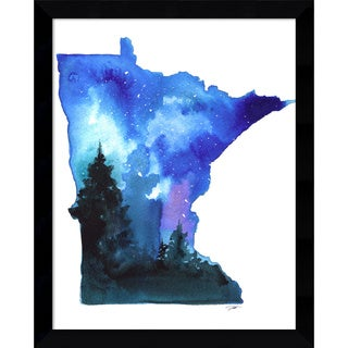 Framed Art Print 'Minnesota State Watercolor' by Jessica Durrant 12 x 15-inch