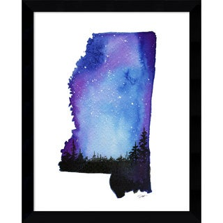 Framed Art Print 'Mississippi State Watercolor' by Jessica Durrant 12 x 15-inch