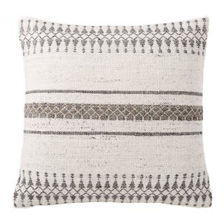 Tribal Pattern Ivory/Gray Feather Filled Throw Pillow 20 x 20(As Is Item)|https://ak1.ostkcdn.com/images/products/12297688/P91003400.jpg?impolicy=medium