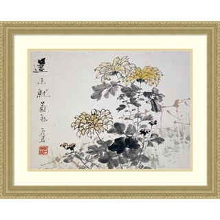Framed Art Print 'Chrysanthemums' by Xu Gu 30 x 24-inch