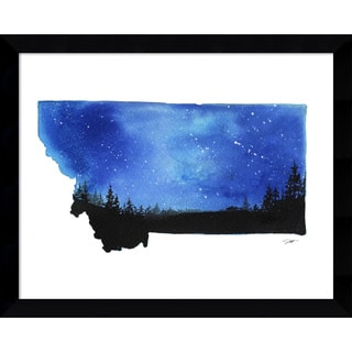 Framed Art Print 'Montana State Watercolor' by Jessica Durrant 15 x 12-inch