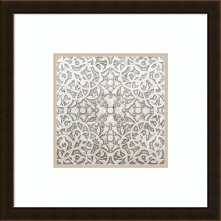 Framed Art Print 'Applique' by Mali Nave 20 x 20-inch