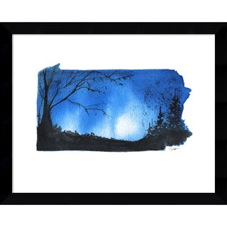 Framed Art Print 'Pennsylvania State Watercolor' by Jessica Durrant 15 x 12-inch
