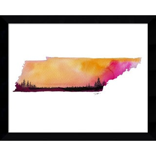 Framed Art Print 'Tennessee State Watercolor' by Jessica Durrant 15 x 12-inch