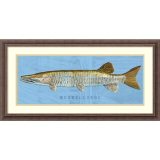 Framed Art Print 'Muskellunge (Fish)' by John W. Golden 31 x 16-inch