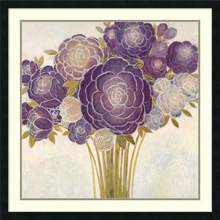 Framed Art Print 'Floriello (Floral)' by Vittorio Maria 34 x 34-inch
