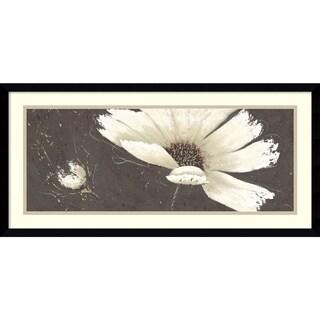 Framed Art Print 'White Fizz Flower' by Art Marketing 30 x 15-inch