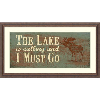 Framed Art Print 'The Lake' by Jo Moulton 33 x 18-inch