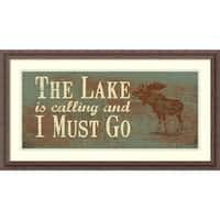 Framed Art Print 'The Lake' by Jo Moulton 34 x 19-inch