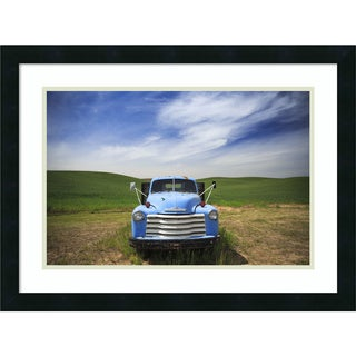 Framed Art Print 'Old Truck Palouse' by Jason Savage 24 x 18-inch