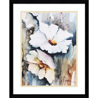 Framed Art Print 'Blooms Aquas II Floral' by Leticia Herrera 17 x 21-inch