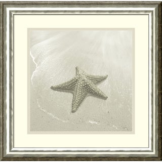 Framed Art Print 'Time Out 8 Starfish' by Carlos Casamayor 19 x 19-inch