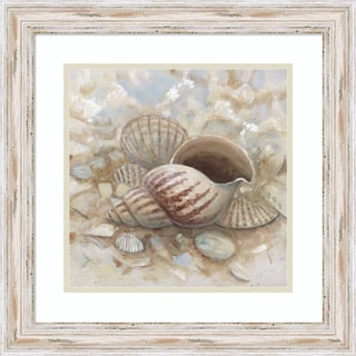 Framed Art Print 'Beach Prize I: Triton Seashell' by Arnie Fisk 19 x 19-inch